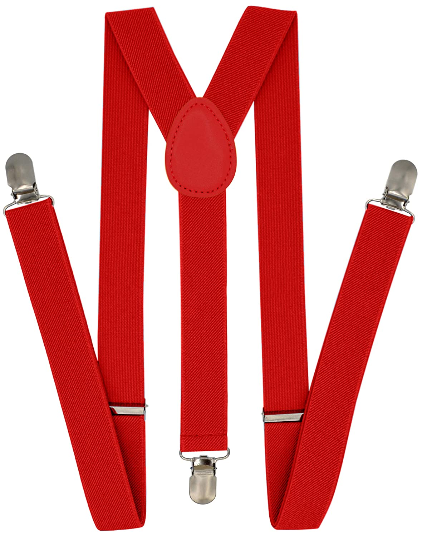 Bici Suspenders for Men Women - Adusjtable Y Back Heavy Duty Strong Clips - Various Colors