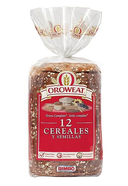 Oroweat Pan de Molde Integral, 12 Cereales y Semillas, 18 Rebanadas - 680 g