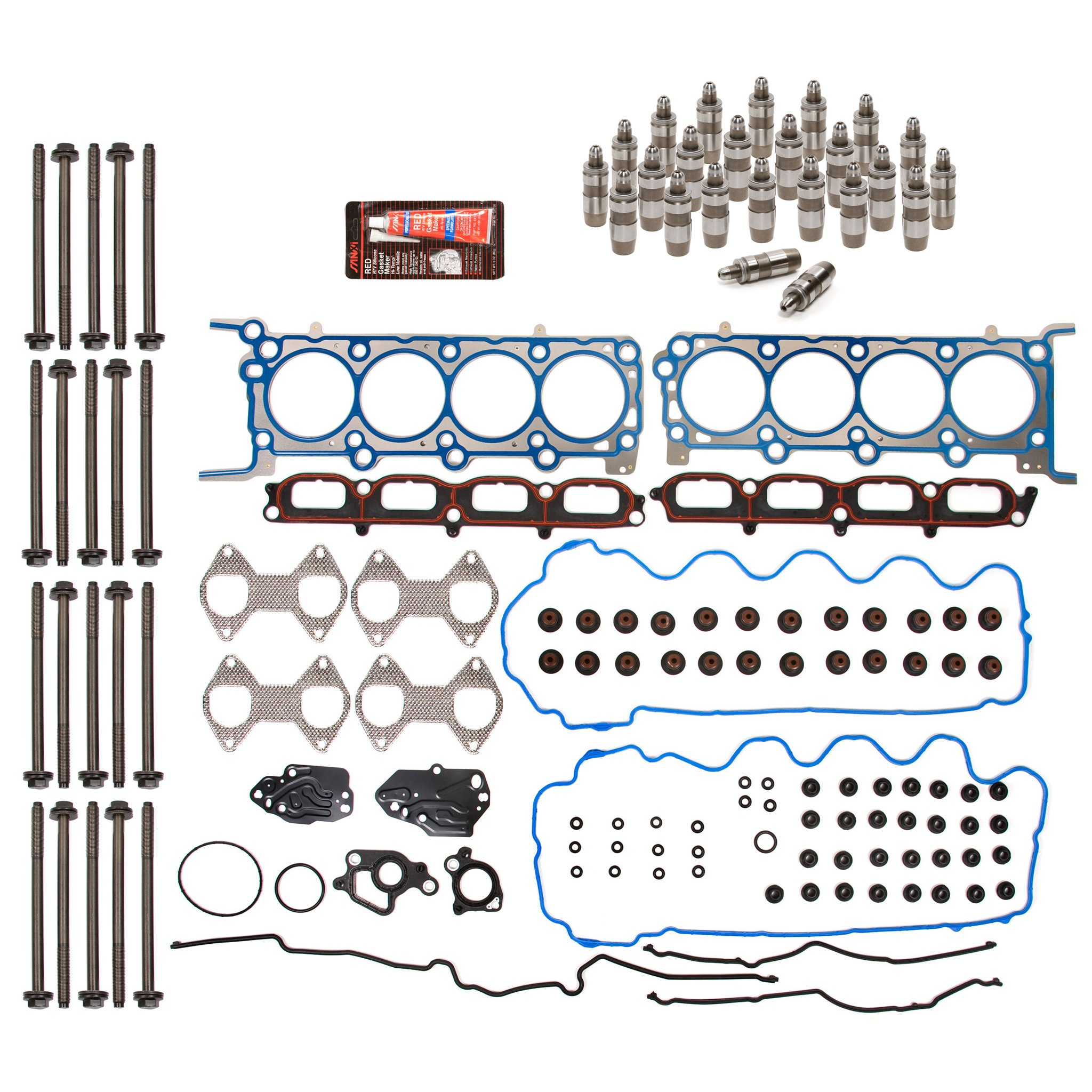 Evergreen HSHBLF8-21200 Lifter Replacement Kit fits 04-06 Ford Expedition F Series Lincoln 5.4 TRITON Head Gasket Set, Head Bolts, Lifters by Evergreen Parts And Components