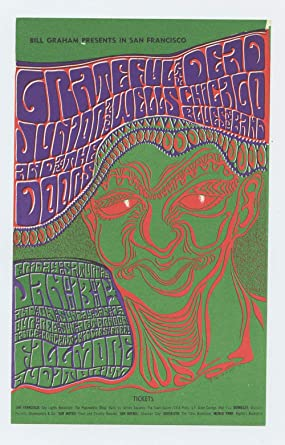 bill graham 45 handbill grateful dead the doors 1967 jan 13 at