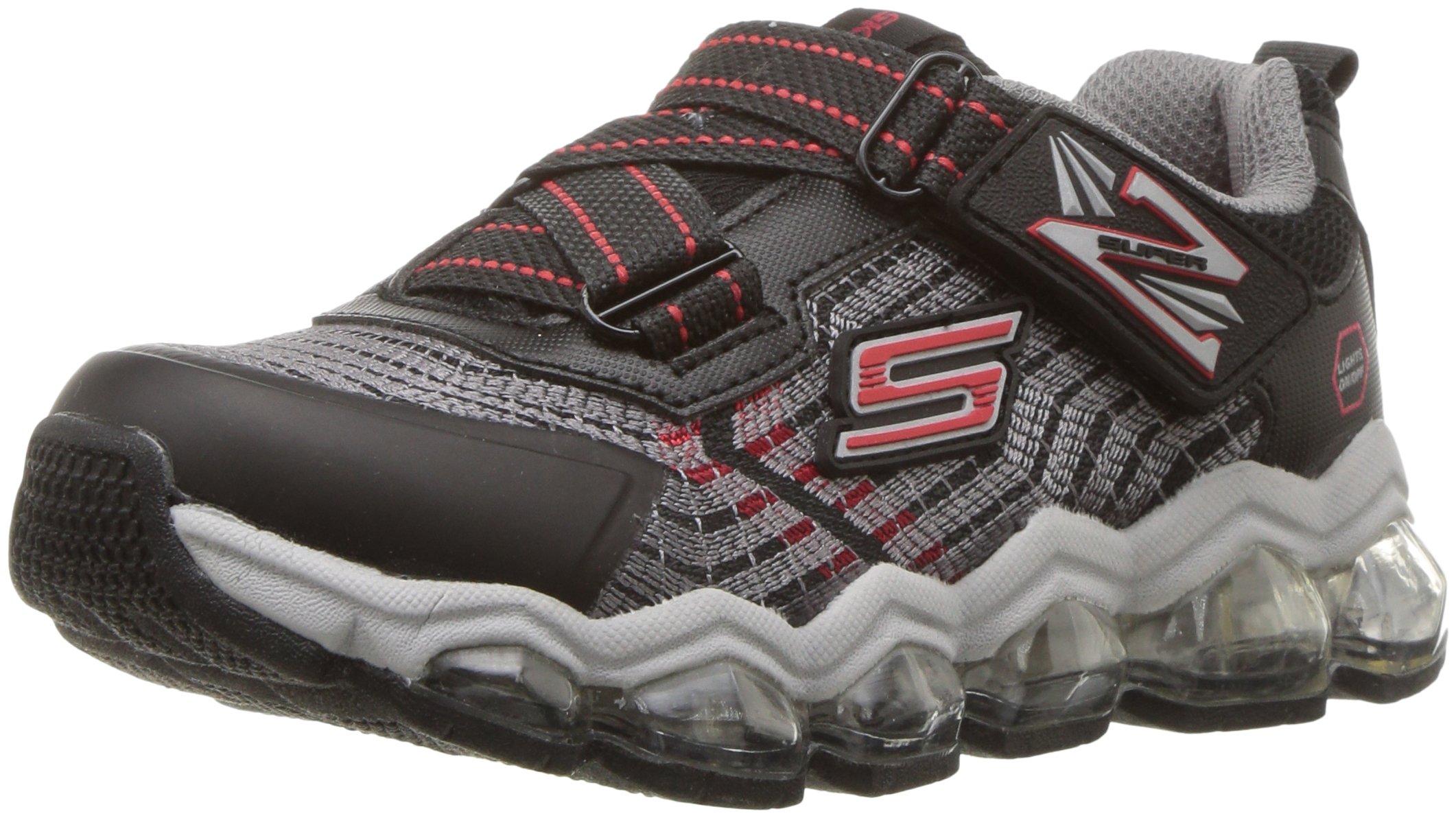 Skechers Kids Boys' Turbo-Flash-90596L Sneaker,Black/red,3 Medium US Little Kid