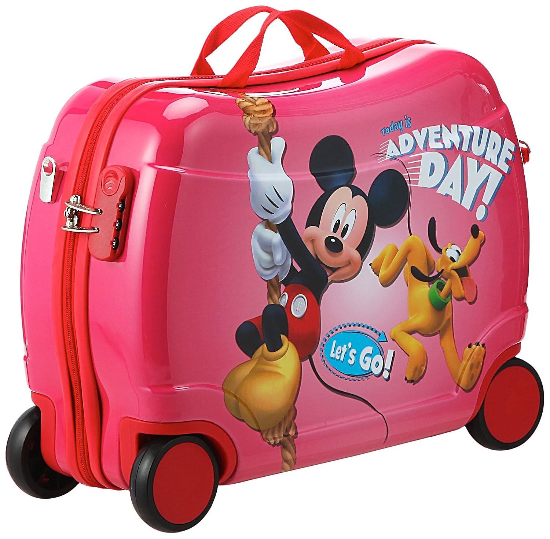 Disney Sitzkoffer Mickey Kindergepäck, 39 Liter, Rot