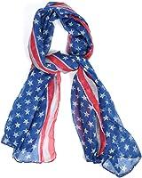 Blue Patriotic American Flag Scarf