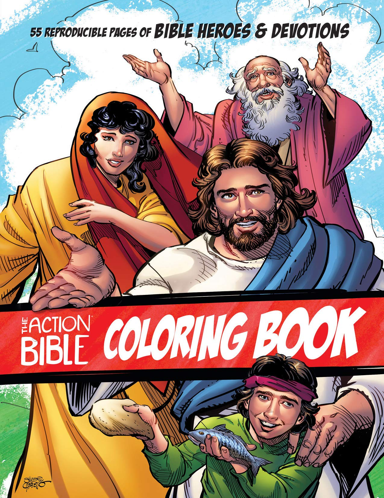 The Heroes of the Bible Coloring Pages on Behance | 1650x1274