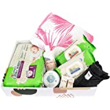 Happy Little Camper Gift Set Baby & Mommy, Featuring a Variety of Baby Bath and Skin Care, Diapers, Wipes, Fashion, and Jewel