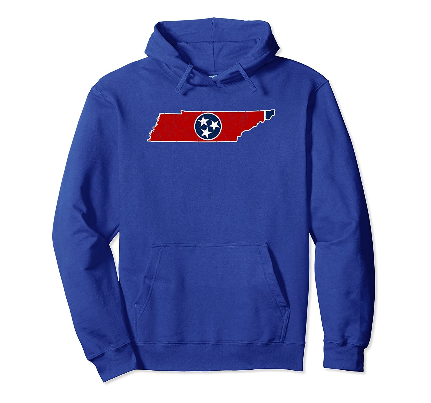 Tennessee Map Hoodie - Tennessee Flag Gift-TH