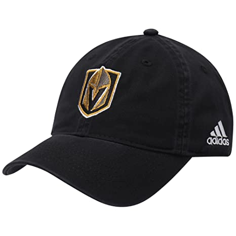 33e931d6ebd Image Unavailable. Image not available for. Color  adidas Vegas Golden  Knights Basic Primary Logo Adjustable Hat Black