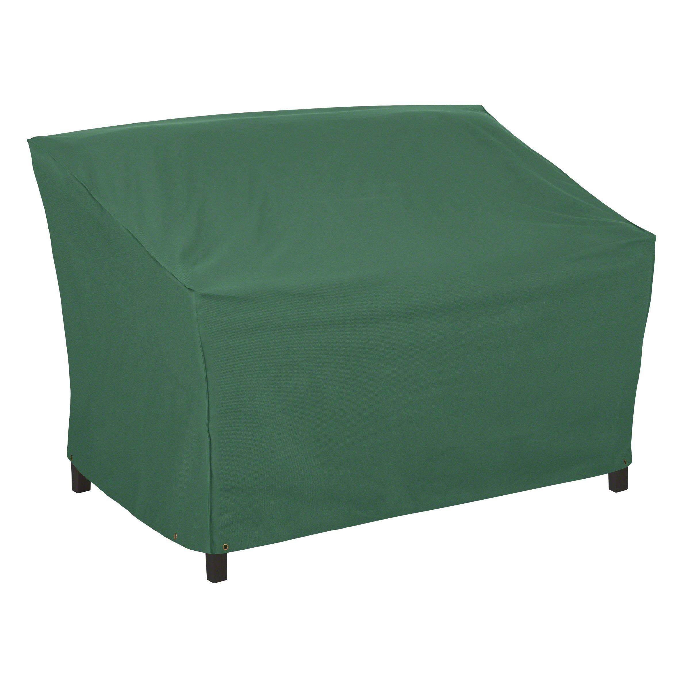 Classic Accessories 55-444-011101-11 Atrium Patio Sofa Cover, 76-Inch, Green