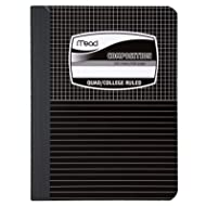 Mead Graph Composition Book, Square Deal, Black Marble, 7.5 x 9.75 Inches (09000)