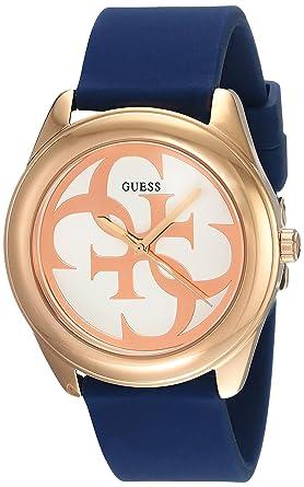 Damen Mit Silikon Uhr Guess Armband W0911l6 Quarz Analog bEeW2IH9YD
