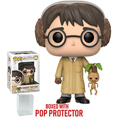Funko Pop! Movies: Harry Potter - Harry Potter (Herbology) Vinyl Figure (Bundled with Pop Box Protector Case): Toys & Games