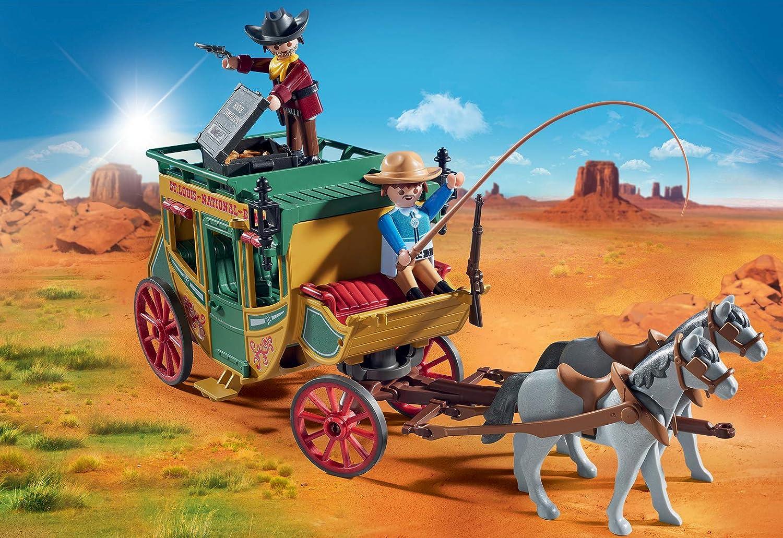 fort bateau wagon maison Cowboy transport Playmobil lanterne Gold Western x4