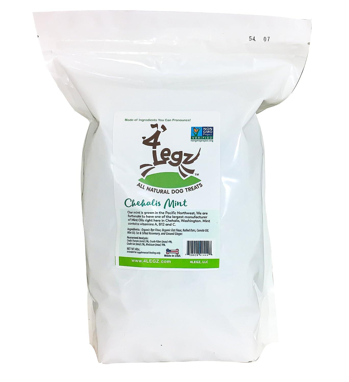 3.5 lb 4Legz Chehalis Mint All Natural Dog Treats, 3.5 Pound