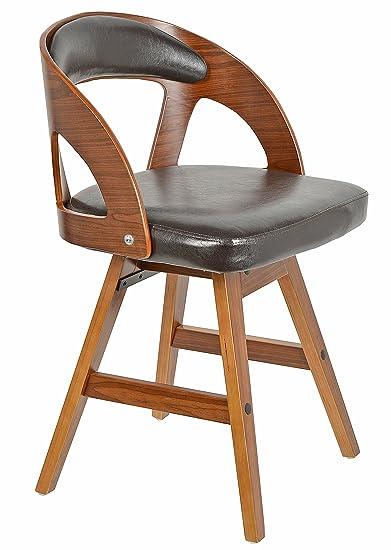 ts-ideen 2727 Sedia Poltroncina da Bar Lounge Retró Style in legno ...