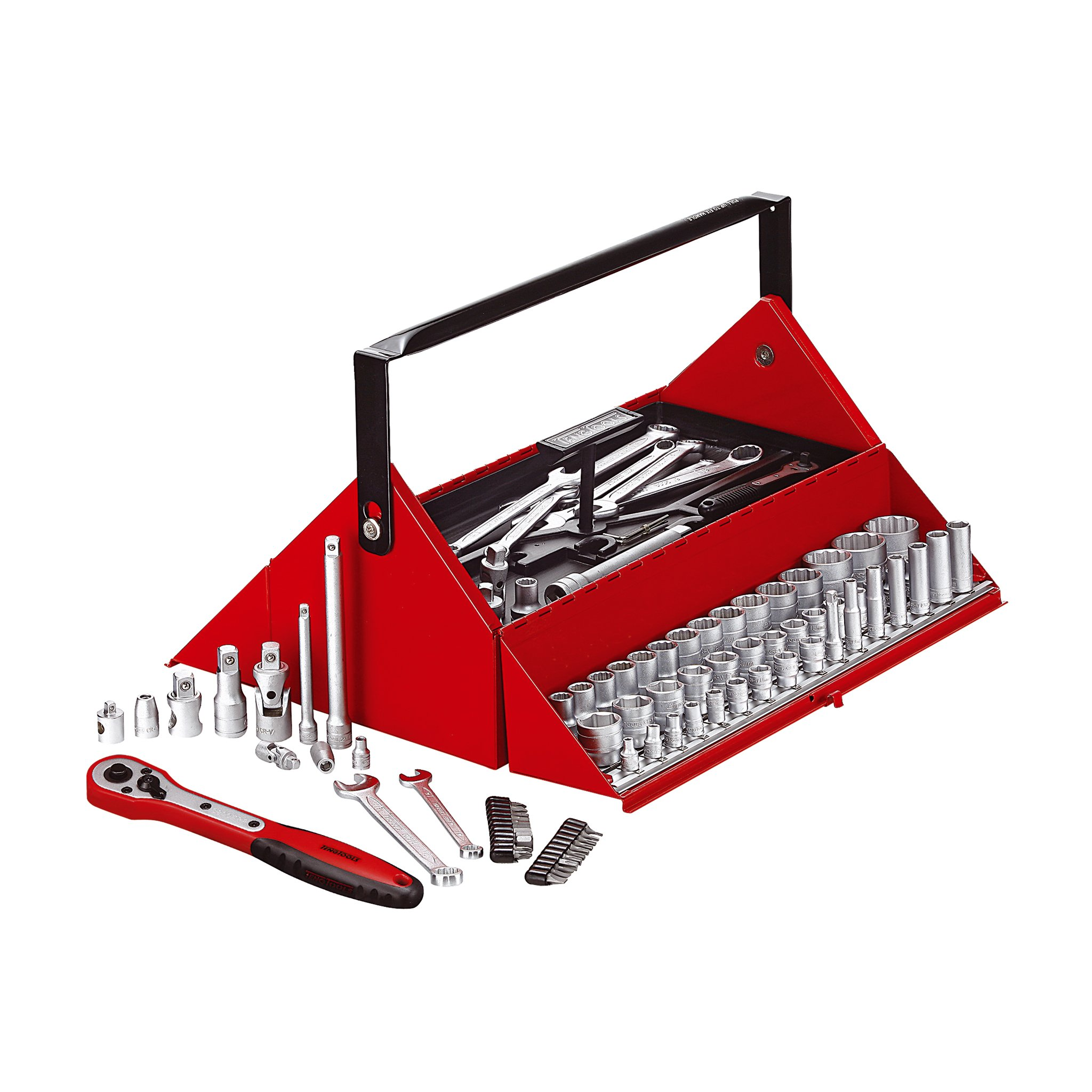 Teng Tools 187 Piece Mega Rosso Mechanics Tool Kit - TC187