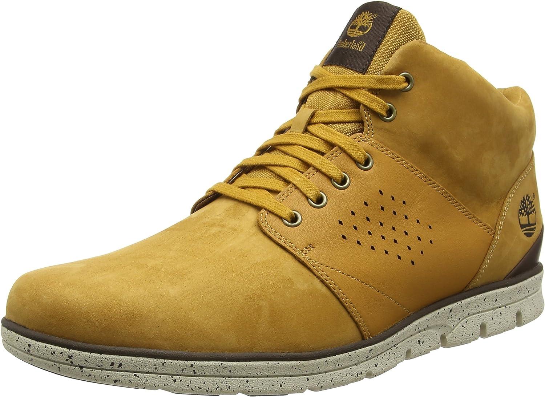 Timberland Bradstreet Chukka Leather, Stivali Uomo, Giallo (Wheat Nubuck), 41 EU