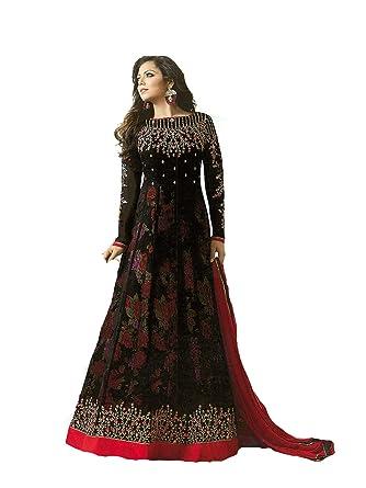 76e5b54f86 Amazon.com: Delisa Indian Wear Anarkali Salwar Kameez Party Wear LT2:  Clothing