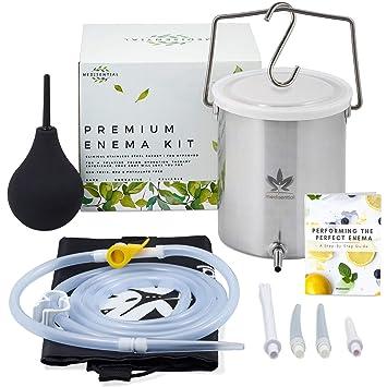 Amazon.com: Medisential Enema Kit – Adecuado para café, agua ...