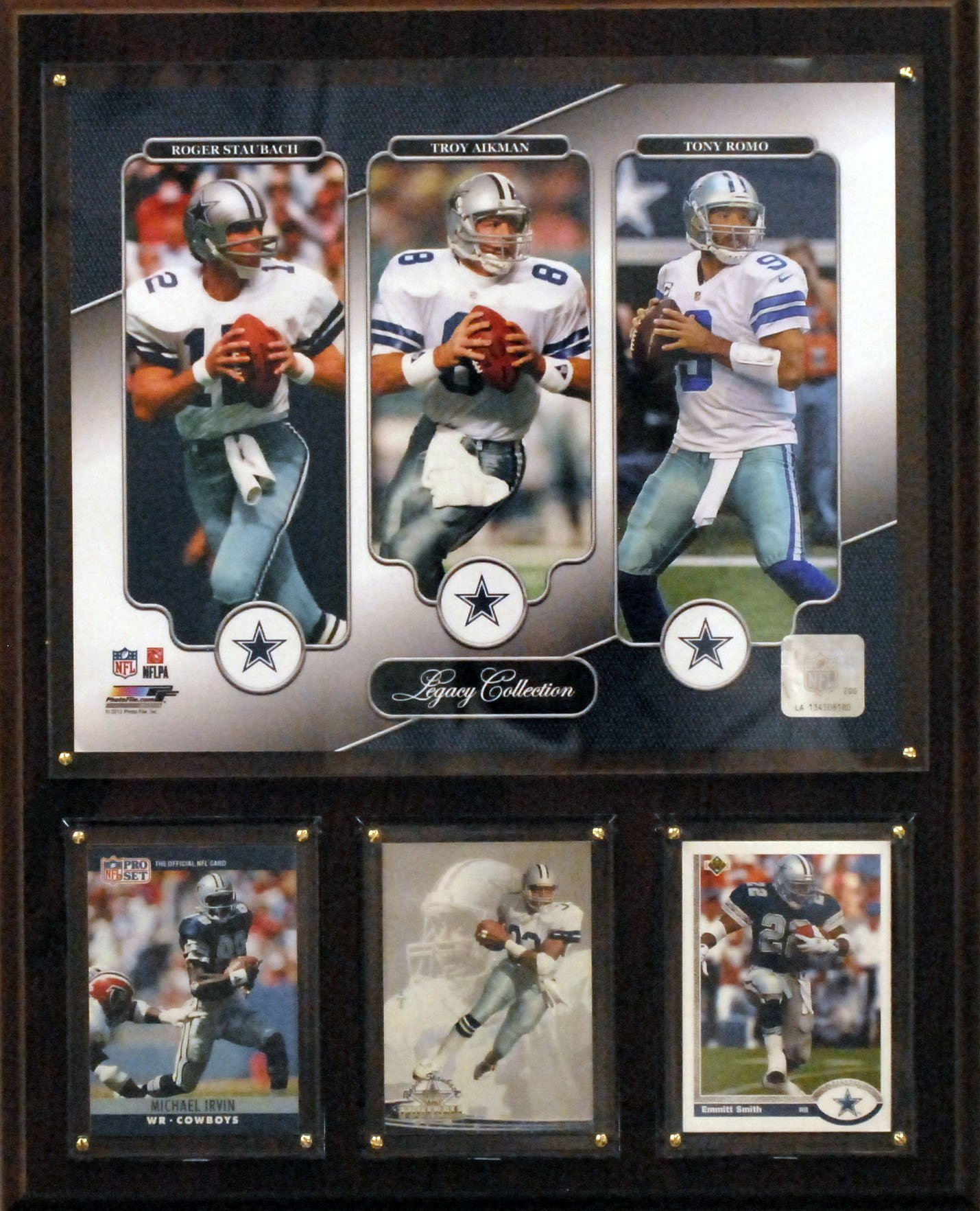 NFL Dallas Cowboys Aikman/Staubach/ROMO 12x15-Inch Legacy Collection Plaque by C&I Collectables
