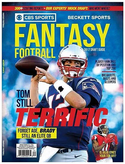 Amazon Com 2017 Fantasy Football Draft Guide Cbs Sports Sports