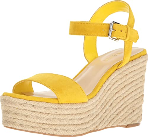 Nine West Women's Doitright Suede Wedge Sandal