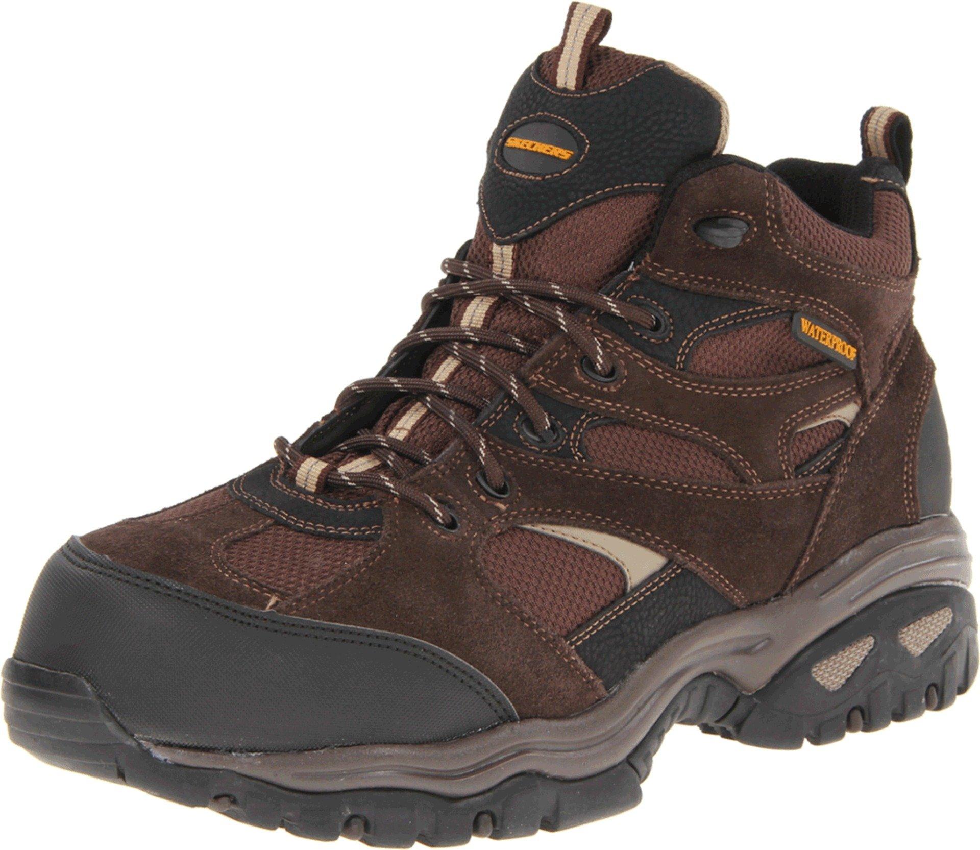 Skechers for Work Men's Clan Boot, Brown, 7 M US