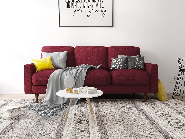 US Pride Furniture S5419-S Obadiah Sofa, Burgundy