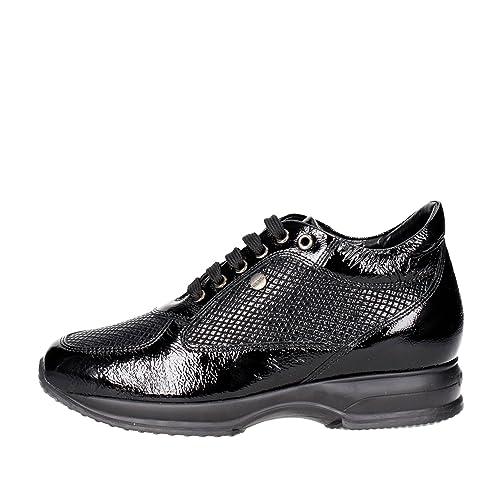 reputable site 8b1d2 c16c2 Keys Scarpe Donna Sneaker Vernice Nera 7005-NERO: Amazon.it ...