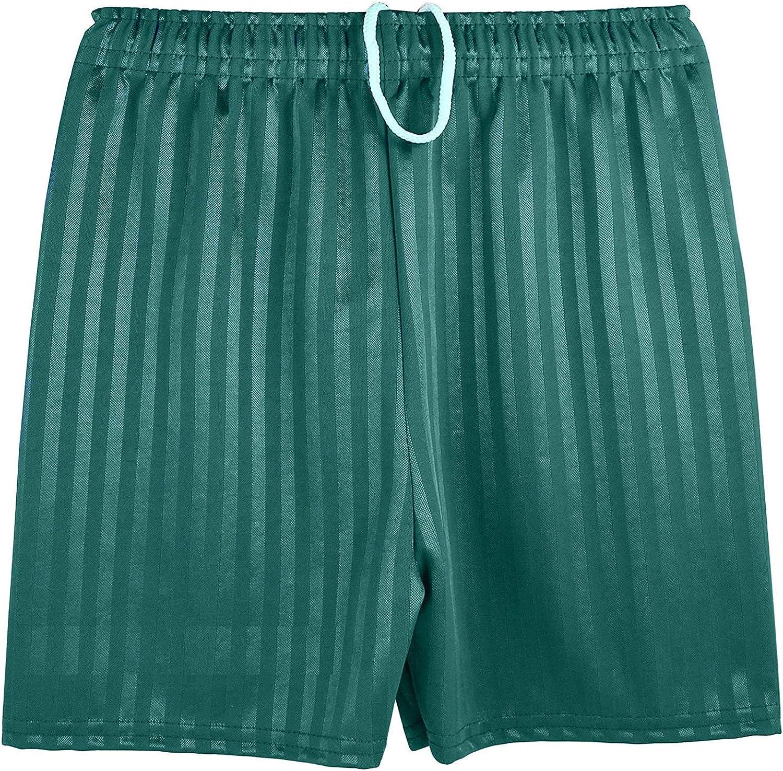 Pull Up Short MyShoeStore Unisex PE Shorts Boys Girls Kids Children Adults Back to School Uniform Shadow Stripe Sports Gym Football Games P.E