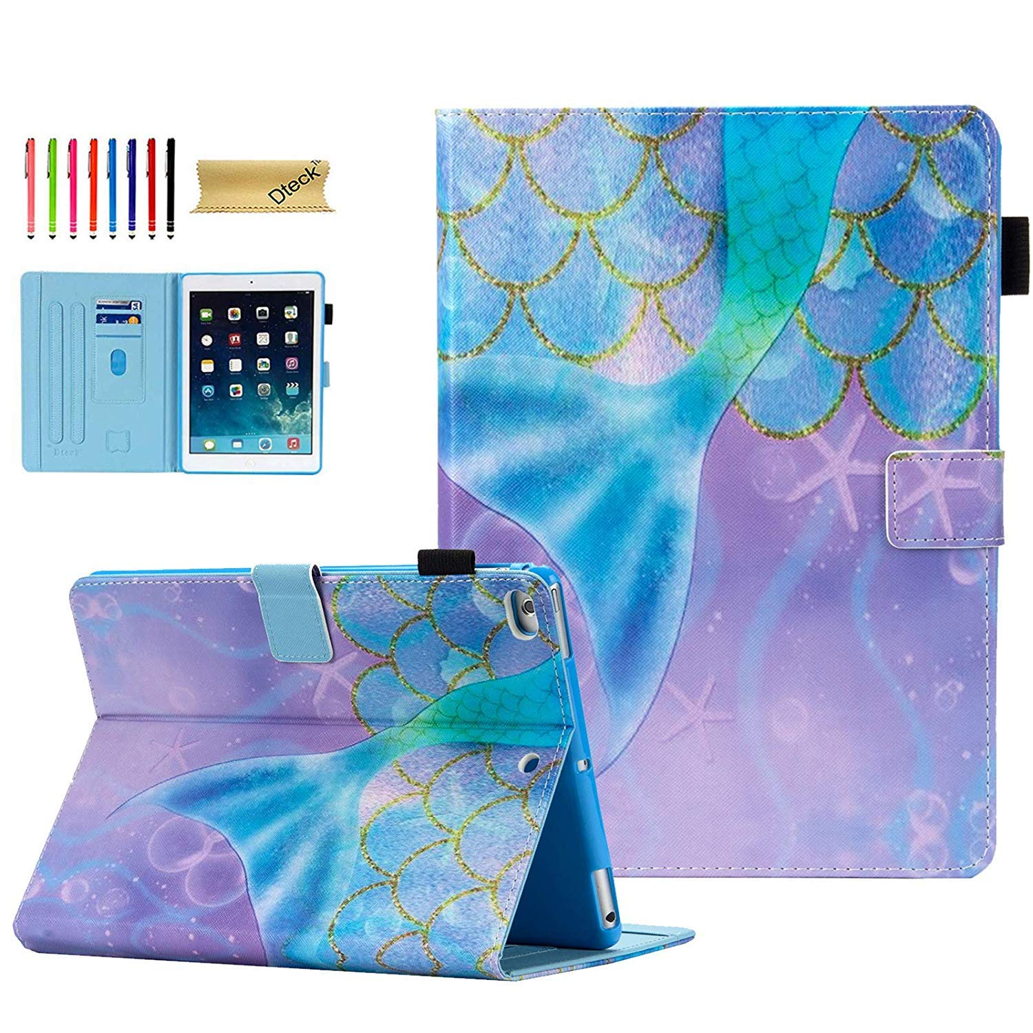 Air 1 2 Dteck iPad 9.7 Case 2018//2017 Slim Fit Folio Multi Angle Stand Auto Sleep Wake Smart Case with Soft TPU Back Cover for Apple iPad 9.7 6th 5th Gen iPad Air 1 2 Case Colorful Tree
