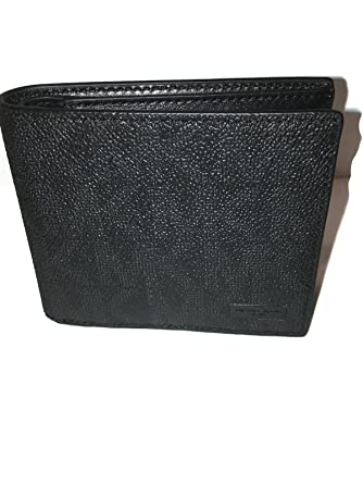 0cfdb305df9a Michael Kors Jet Set Shadow Billfold Signature Mens wallet with Passcase  (Black) at Amazon Men's Clothing store: