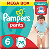 Pampers Pants Diapers, Size 6, Extra Large, 16 kg, Mega Box, 76 Count