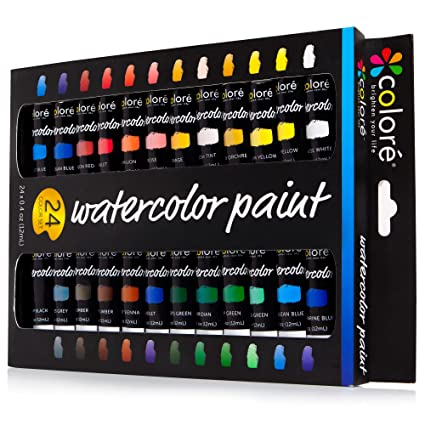 Image result for Colore Watercolor Painting Kit, 24 Colors