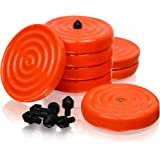 """Slipstick CB700 Universal Bench Grippers with Non Slip Grip Surface For Woodworking, Painting, Leveling, Raising, & Supporting (Set of 8 Stackable Grippers) 2-3/4"""" Round x ½"""" Tall - Orange"""