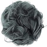 PRETTYSHOP XL Hairpiece Scrunchy Updo Bridal Hairstyles Scrunchie Voluminous Curly Messy Bun Ash Gray G27E