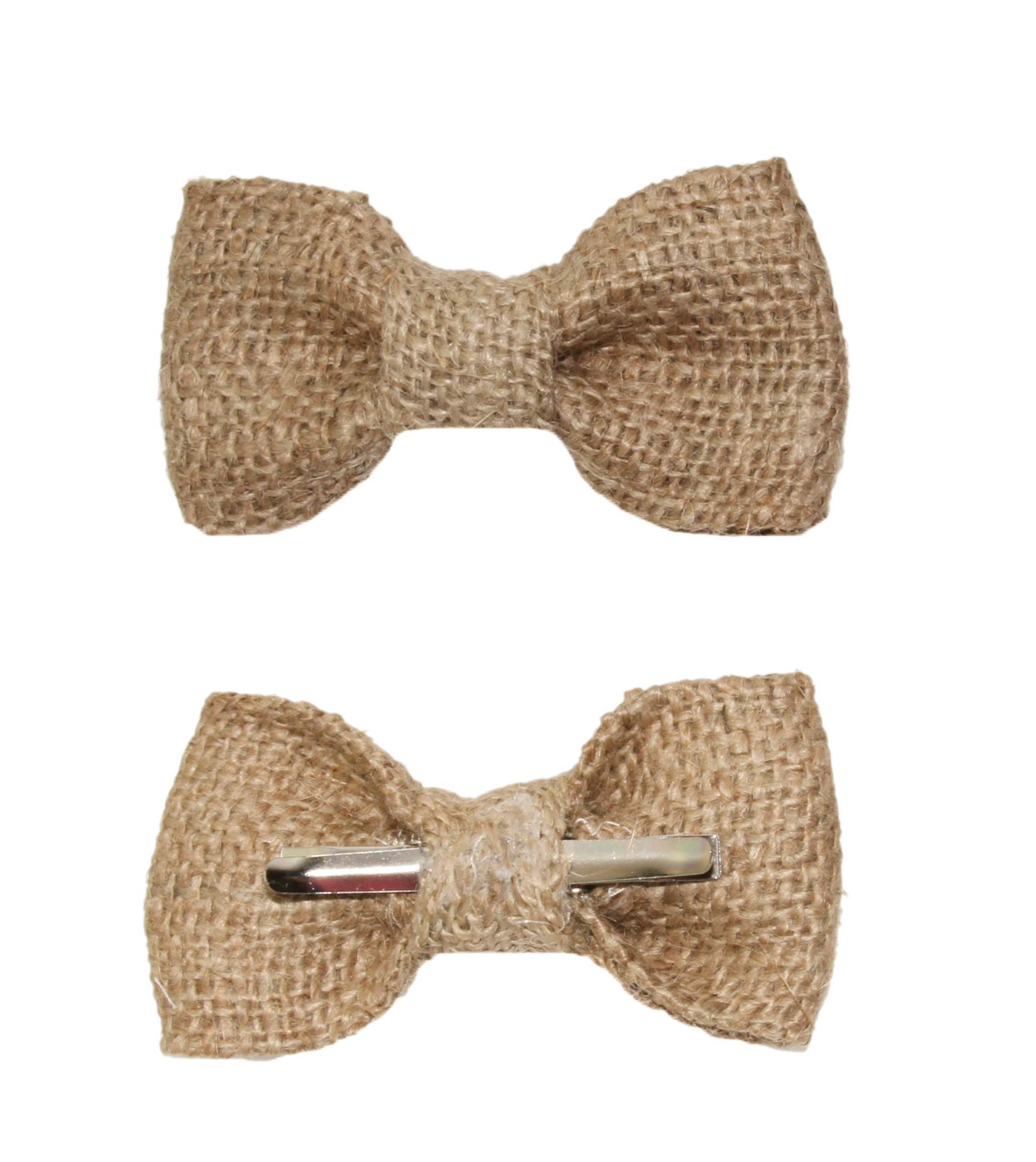 amy2004marie Toddler Boy 3T 4T Burlap Clip On Bow Tie Rustic Wedding