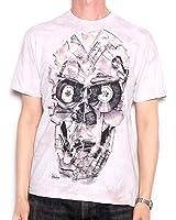 Skull Cassette T Shirt - All Over Big Print Fully Screenprinted USA Import