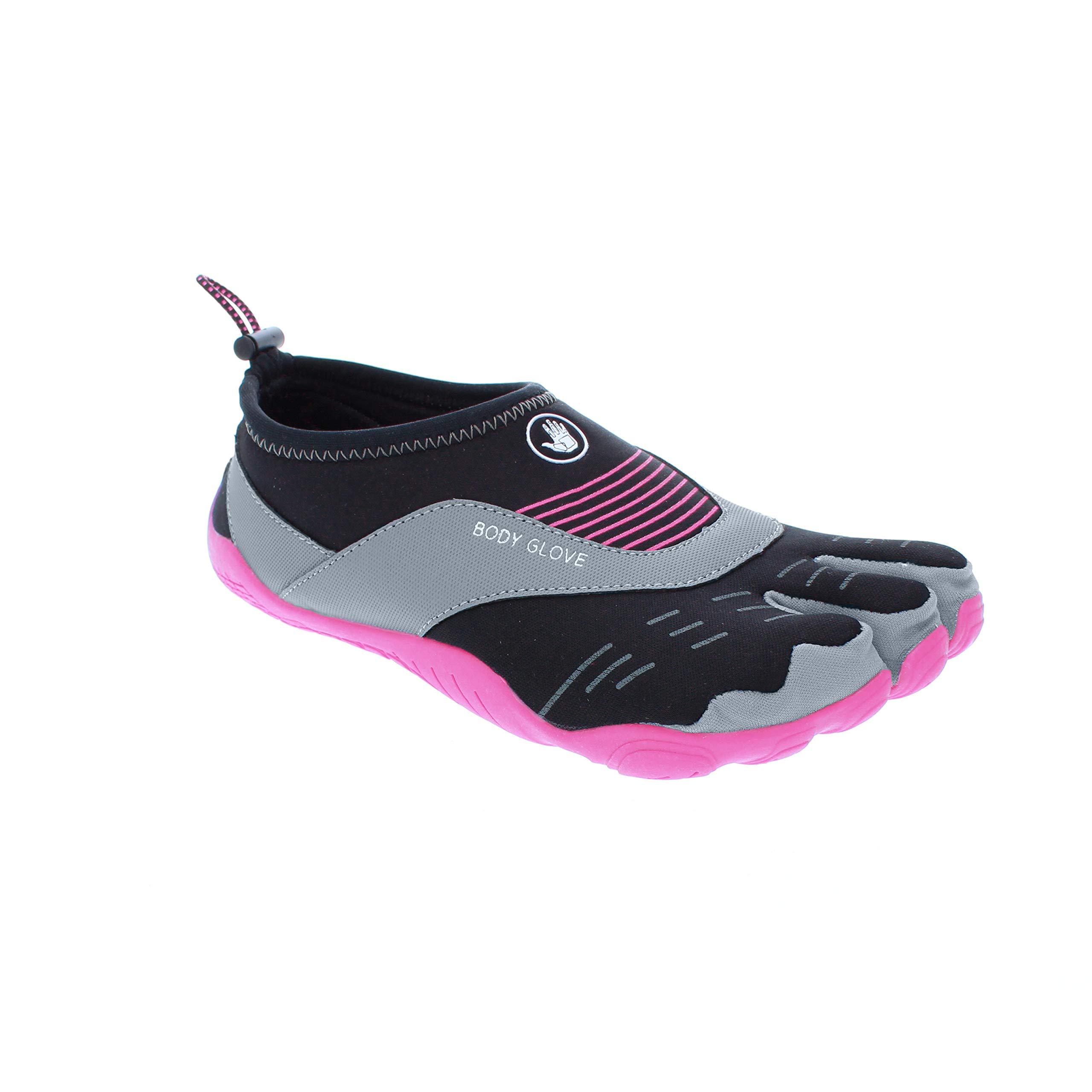 Body Glove Women's 3T Barefoot Cinch Water Shoe, Black/Flamingo Pink, 10 by Body Glove