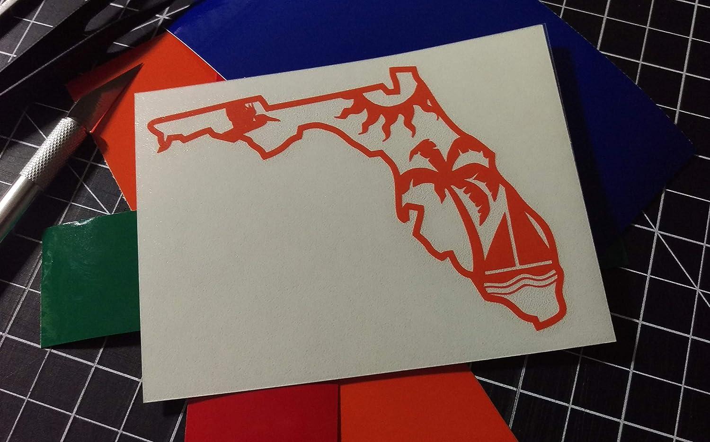 Window Decal Florida Sunshine Vinyl Decal Boat Decal
