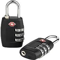 2er-Pack TSA Kofferschloss mit 3-stelligem Zahlencode - Zahlenschloss ideal für Koffer, Rucksack & Gepäck