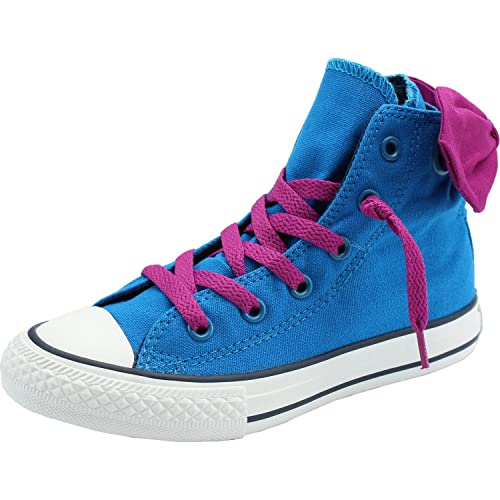 00838971a627 Converse All Star Hi Bow Back Girls Canvas Boots 12 Bright Blue Pink   Amazon.co.uk  Shoes   Bags