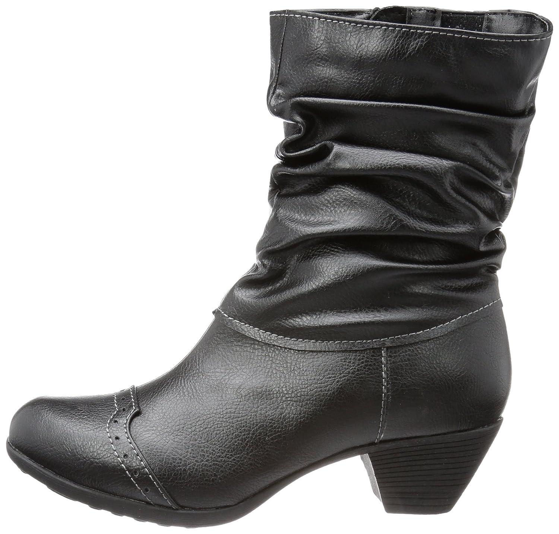 Andrea Conti 0616628 - Botas tacón, talla: 37, Color negro - Schwarz (schwarz 002)