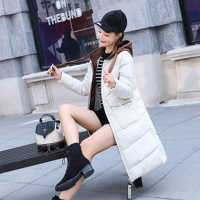 aliennoun&invernali cappotti invernali piumino femminile lunga cotone imbottito giacca cotone-imbottito vestiti,vedi tabella, XXXL A Tinta Unita