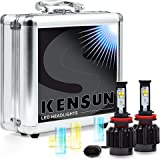 Kensun New Technology All-in-One LED Headlight Conversion Kit (from HID or Halogen) with Cree Bulbs - H8 (H11) - 30W 3000LM x2 - 2 Year Full Warranty
