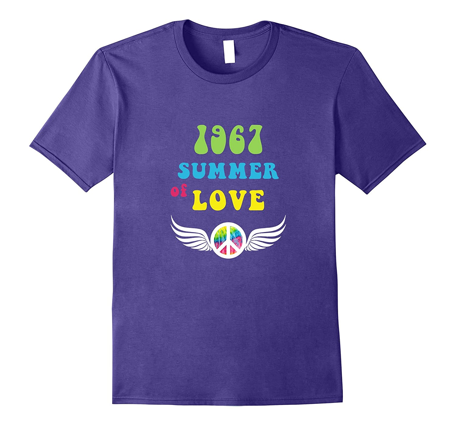 1967 Summer of Love Flying Peace Wings T-shirt-Vaci