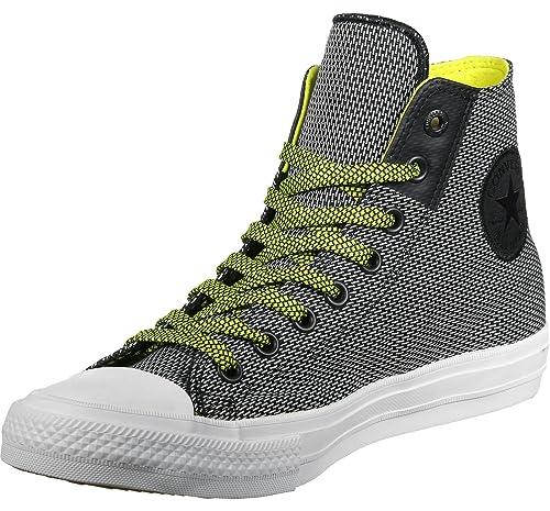 8bb647ef410f Converse Ctas Ii Hi Basket Weave Mens Trainers Black White Yellow - 44.5  EU  Amazon.co.uk  Shoes   Bags