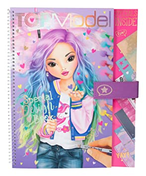 Mode Top Model Coloriage Fille.Depesche 10198 Livre De Coloriage Special Book Top Multicolore