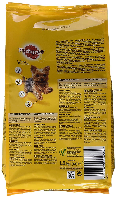 Pedigree Piensos Para Perros Pequeños Sabor Buey y Verduras - 1500 gr: Amazon.es: Alimentación y bebidas