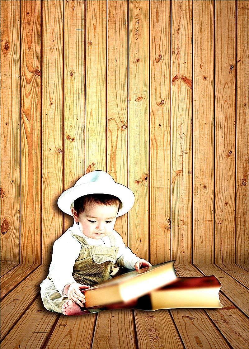 GoEoo Wooden Wall Floor Photography Backdrop Vinyl 150X210cm Photo Studio Background for Baby 1582