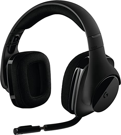 Amazon Com Logitech G533 Wireless Gaming Headset Dts 7 1 Surround Sound Pro G Audio Drivers Computers Accessories